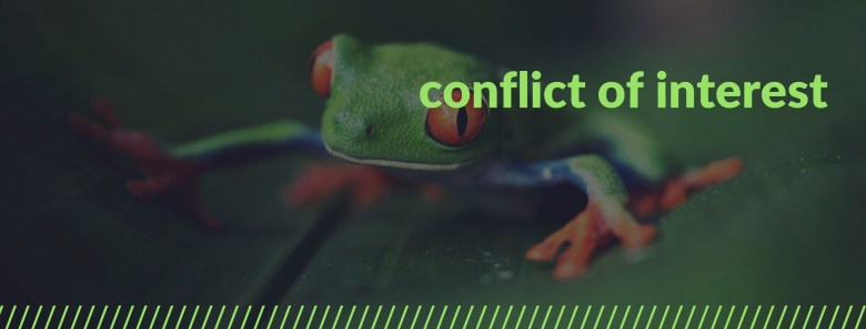 Melinda J. Irvine -- what is a conflict of interest when working as a freelance writer