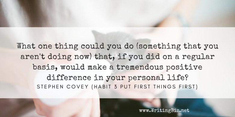Melinda J. Irvine - freelance writer -- put first things first2