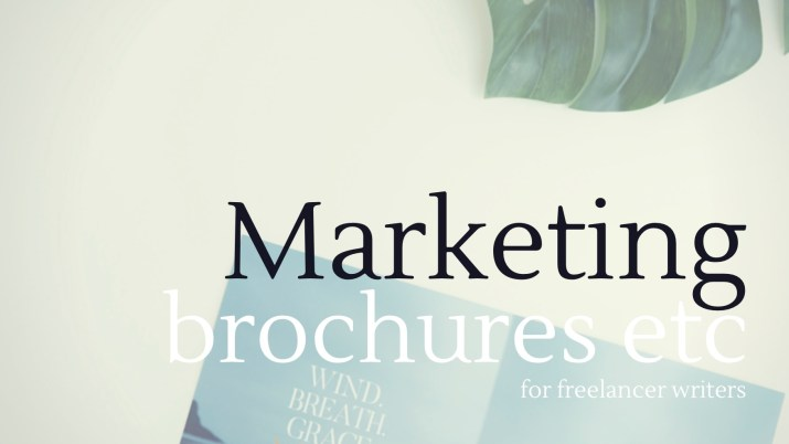 Melinda J. Irvine -freelance writing tips - creating your own marketing brochures and tools