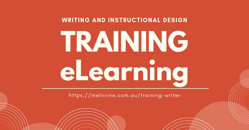 training writer and instructional design - Melinda J. Irvine