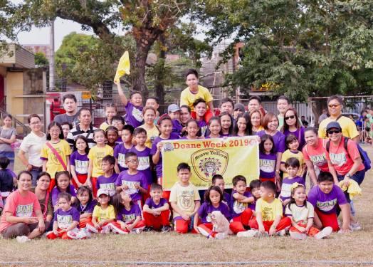 Yellow team winners.