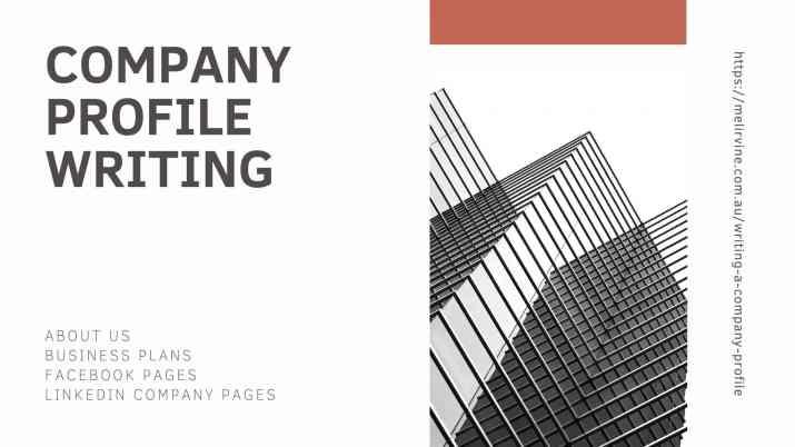 company profile writing service @ Melinda J. Irvine