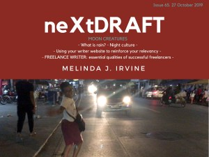 neXtDRAFT an eZine by Melinda J. Irvine Issue 65.