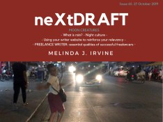 neXtDRAFT an eZine by Melinda J. Irvine Issue 65.