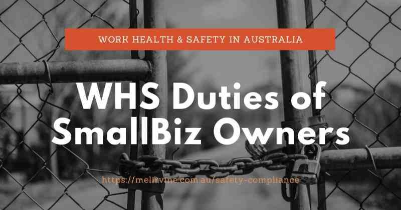 WHS duties of SmallBiz Owners by Melinda J. Irvine