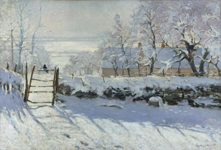 Magpie by Claude Monet. 1868–1869. Public Domain image sourced from the Google ArtProject.
