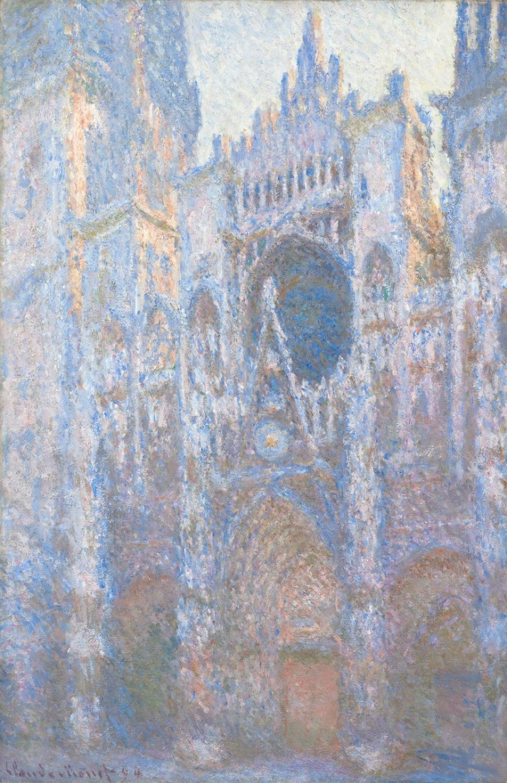 Rouen Cathedral, West Façade by Claude Monet. 1894. Public Domain image sourced from National Gallery of Art USAwebsite.