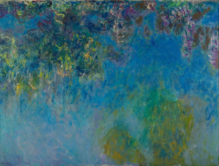 Wisteria by Claude Monet. 1925. Public Domain image sourced from Wikipedia.