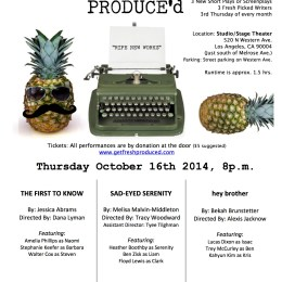 More Scenes from Sad-Eyed Serenity to be Performed by Fresh Produce'd