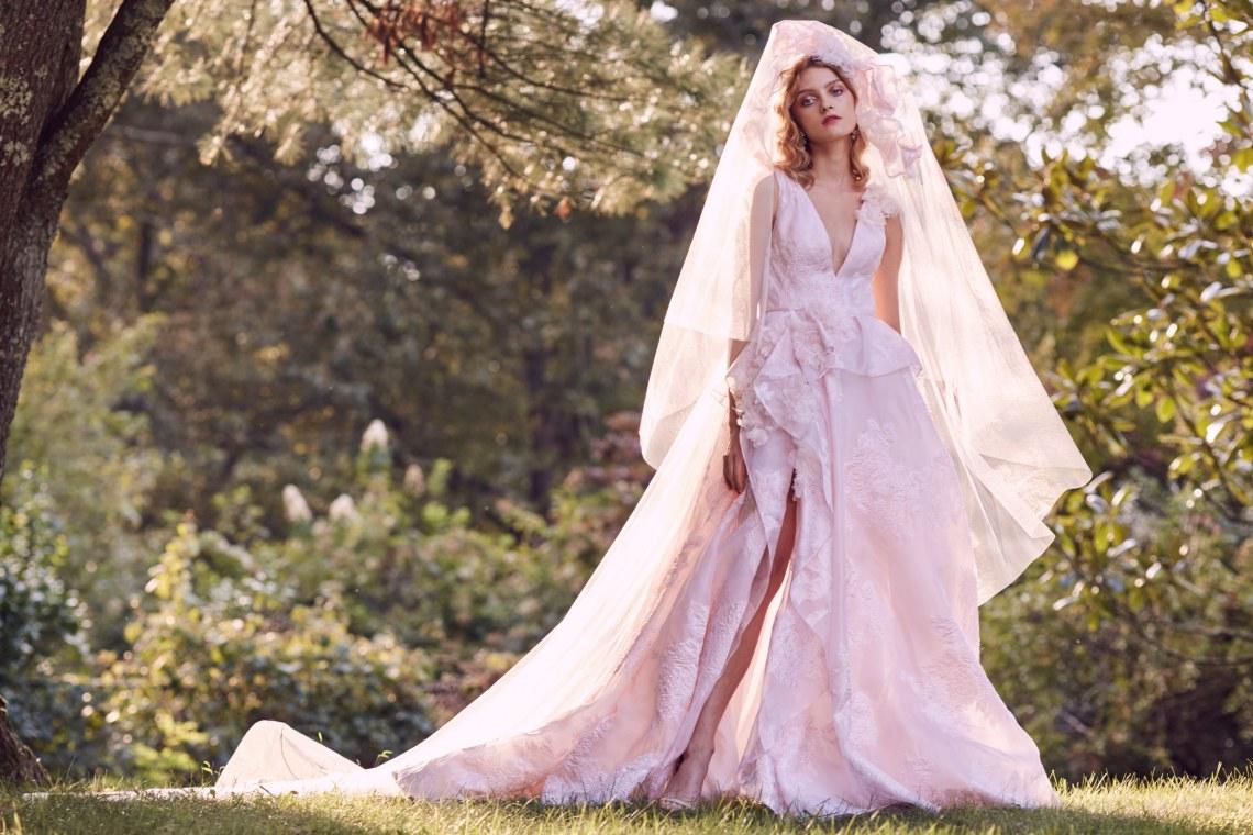 Vestidos de novia de colores 2019
