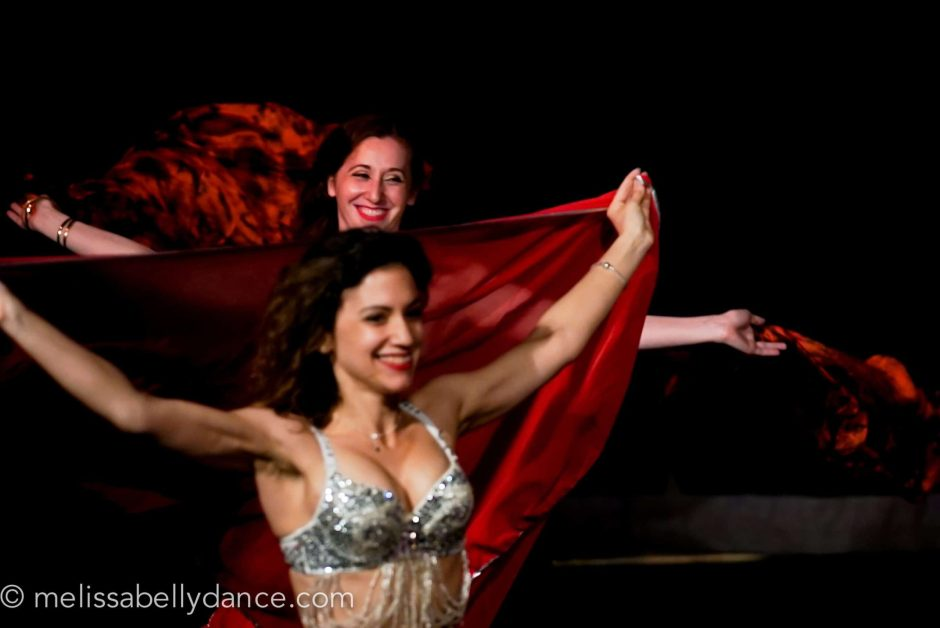 Belly Dancers With Veils At Melissa Belly Dance Student Show
