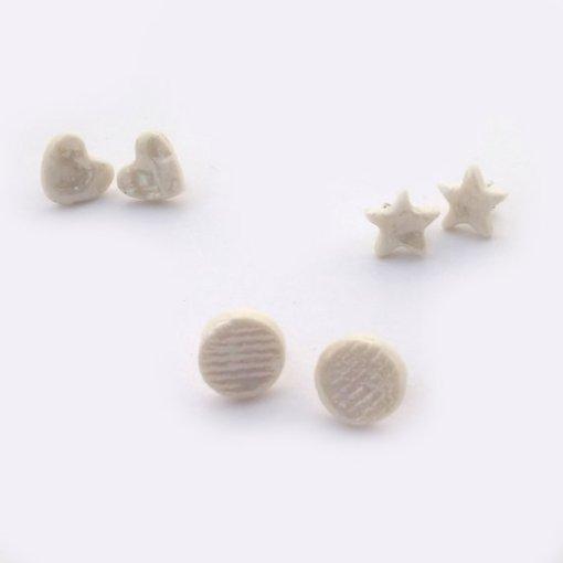 set of stud earrings