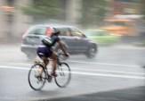Racing the rain.
