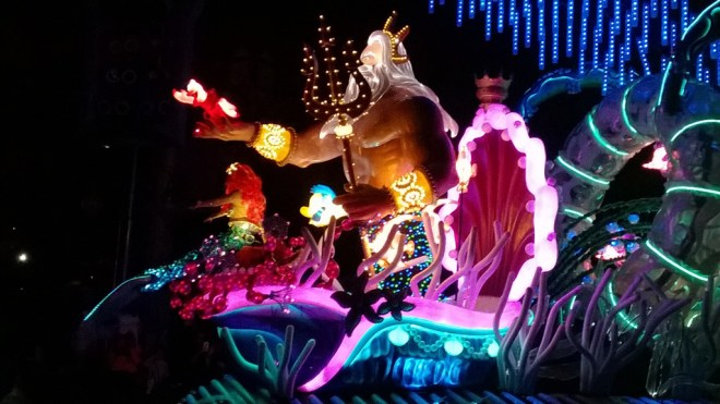 Ariel and Posiedon, of course, is my favorite electrical float. Photo by M.C.
