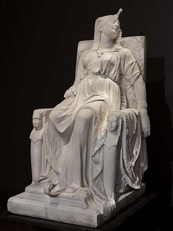 Death of Cleopatra, Edmonia Lewis, Marble, 1876, American