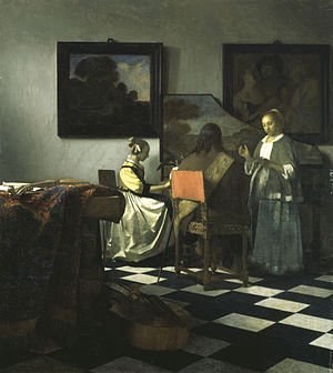 The Concert, Johannes Vermeer, Oil, c. 1664, Dutch