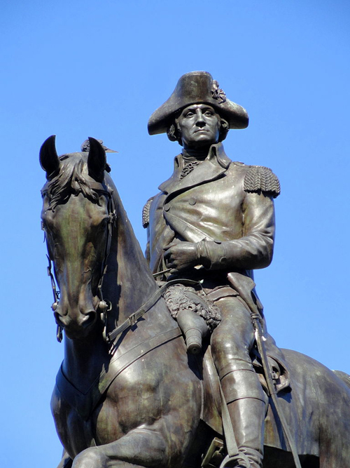 George Washington by Thomas Ball, Bronze, 1864