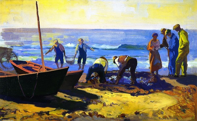 Catching a Fish at the Beach Bischoff
