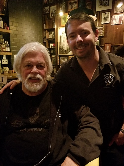 Capt Paul Watson and Peter Hammarstedt 1