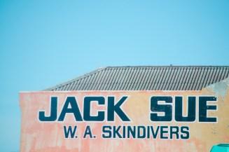 World War II hero and avid scuba diver Jack Sue's dive shop in Midland.