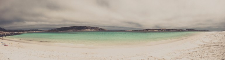Little Wharton beach on a cloudy day - remote south coast of Western Australia.