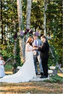 Kyle & Miranda Charming Fall Virginia Woodlands Wedding