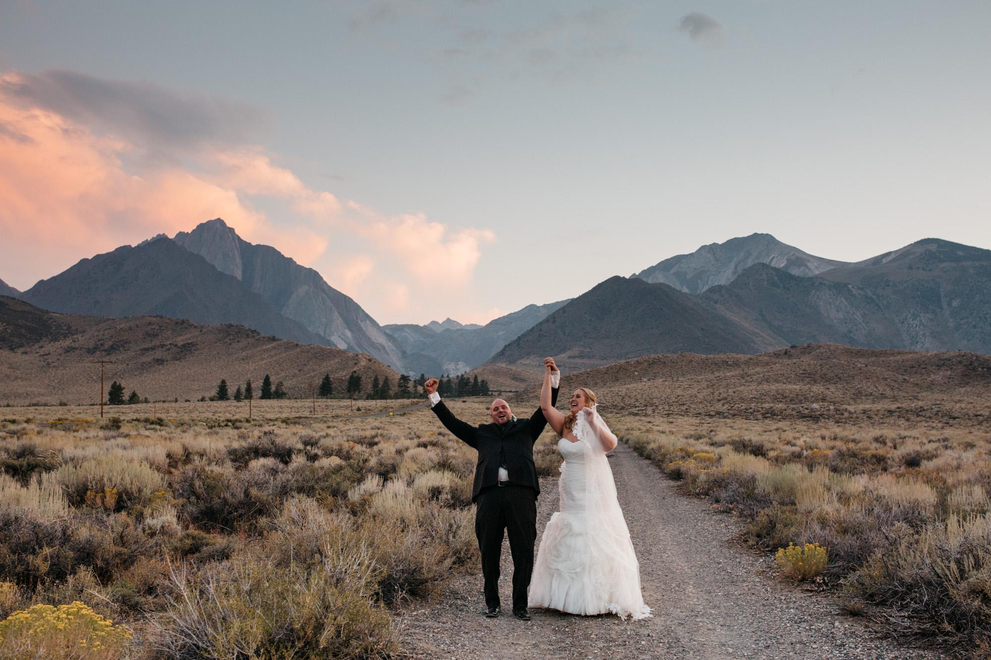 Convict Lake Resort Wedding Mammoth Lakes  Mountain Wedding