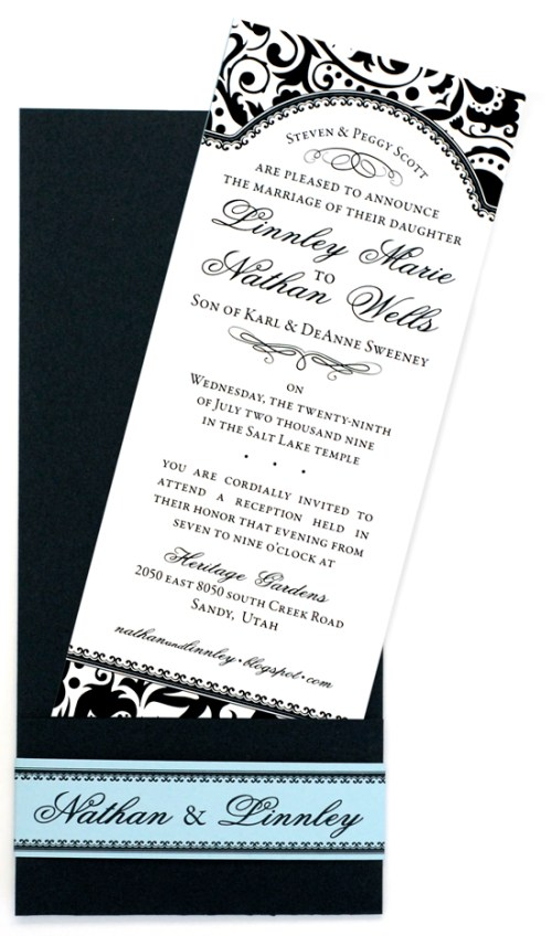 Nathan & Linnley Invitation pocket detail