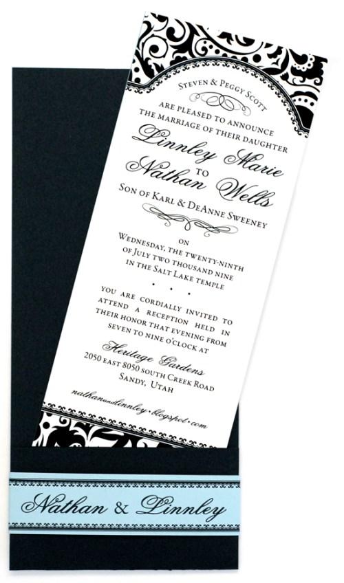 Nathan & Linnley Invitation pocket detail