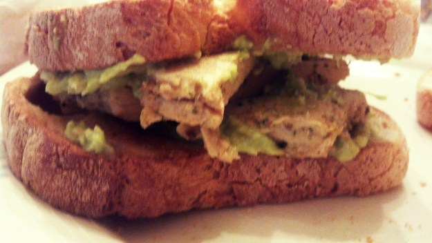 Toasted Avocado and Chicken Sandwich