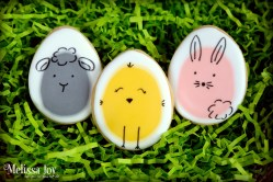 Egg shaped sheep, chick and bunny cookies!