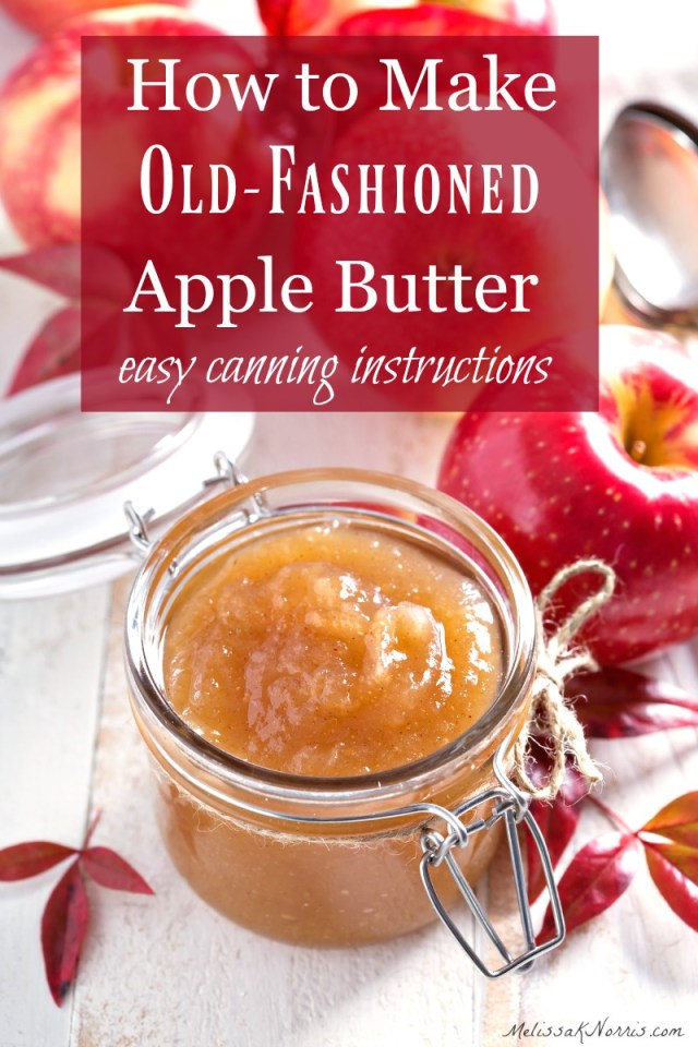 How to Make Apple Butter- Easy Canning Instructions