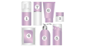 skincare cosmetic bottles