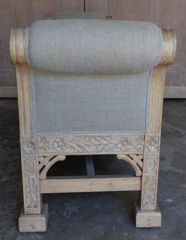 English Chinoiserie Style Six-legged Bench Melissa