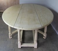 19th Century English Bleached Walnut Gateleg Table $7,500 ...