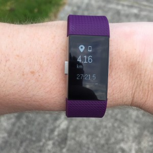 Fitbit Charge 2 Connected GPS Screen
