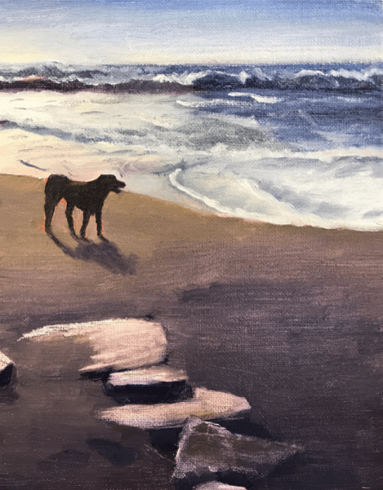 Black Lab Dog Pacifica Beach
