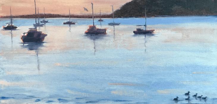 Sailboats Sunset Half Moon Bay El Granada