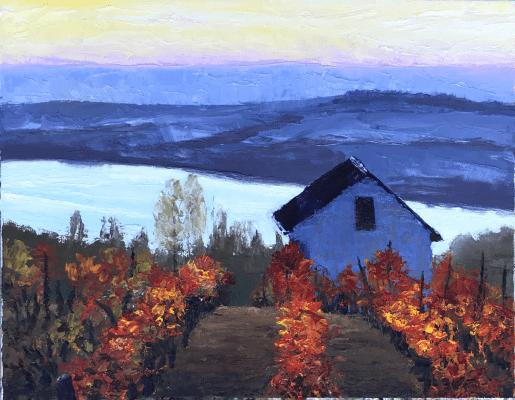 Autumn Vineyard Fall Colors Sonoma Barn