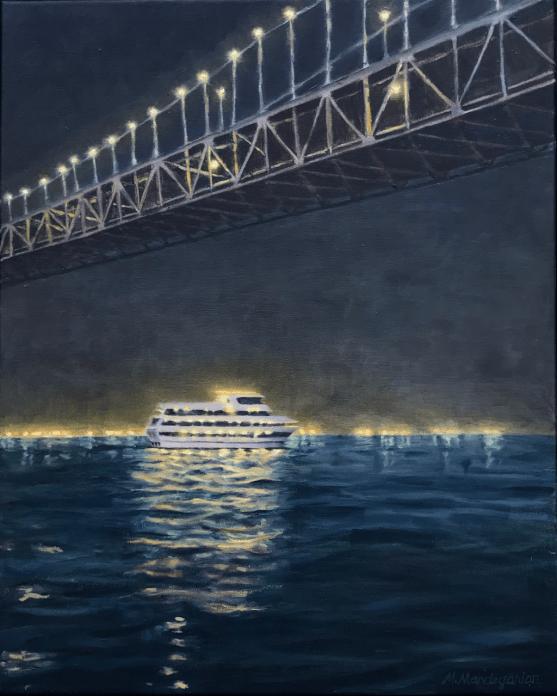 Bay Bridge San Francisco Cruise Lights