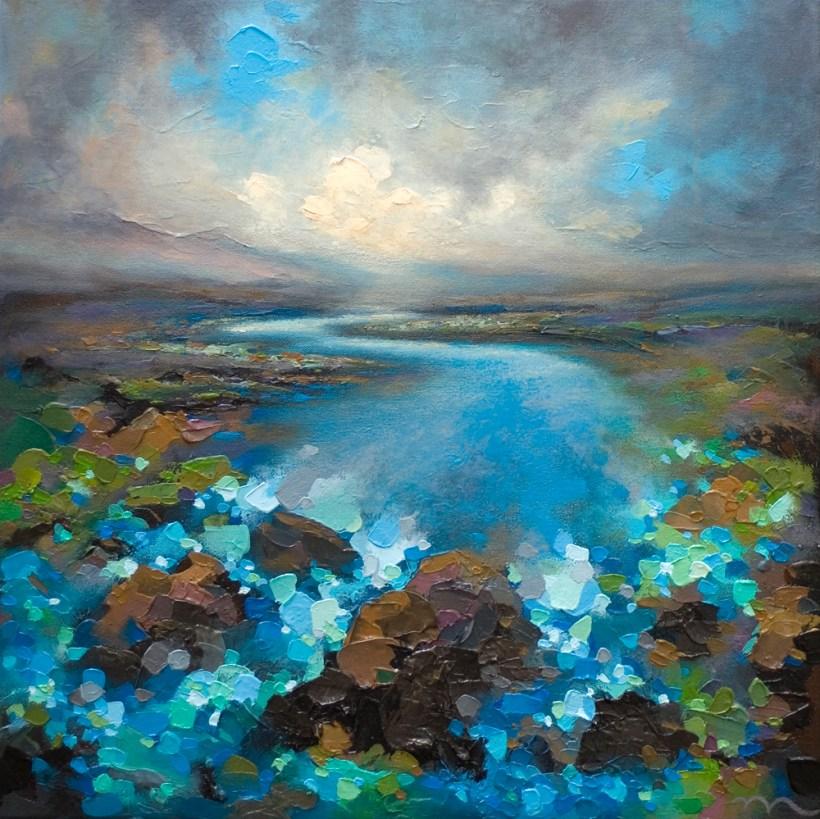 Calgary Artist Melissa Mckinnon Paints Contemporary River Landscape Painting Artrise