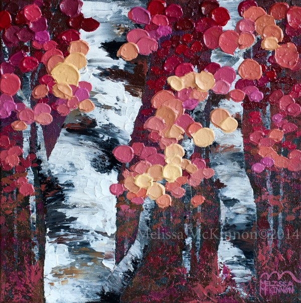 Aspen Trees Acrylic Paintings of Birches