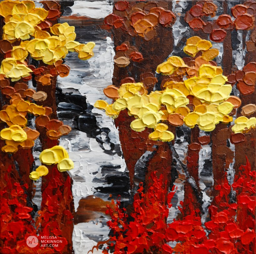 Acrylic Paintings of Autumn Trees