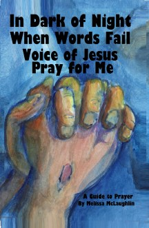 Melissa McLaughlin Truthful Grace Book - In Dark of Night When Words Fail Voice of Jesus Pray For Me