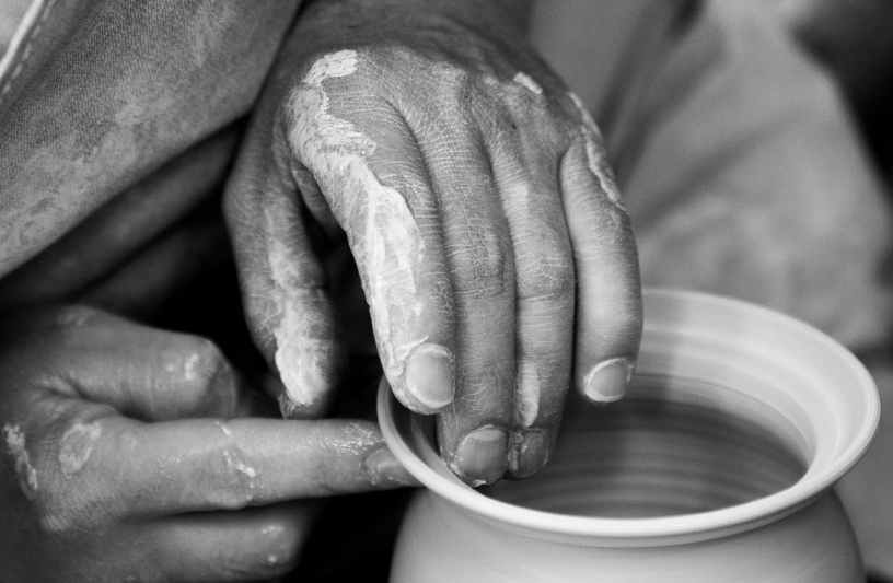 Christian poem The potter's hands