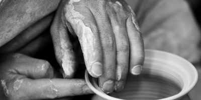 Christian poem The potter's hands