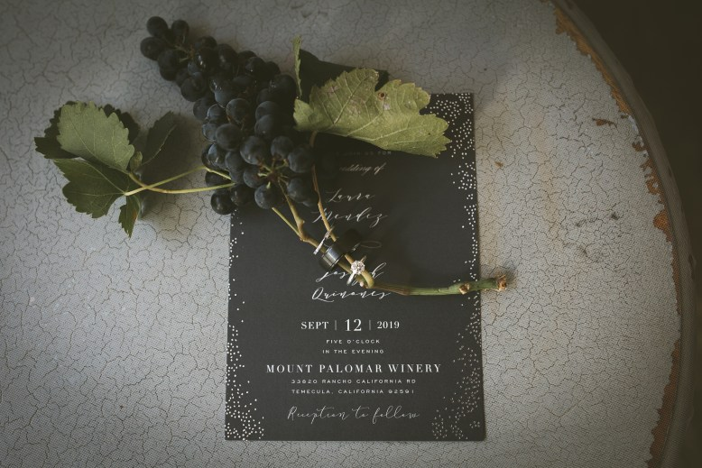 WEDDING photos: Mount Palomar Winery