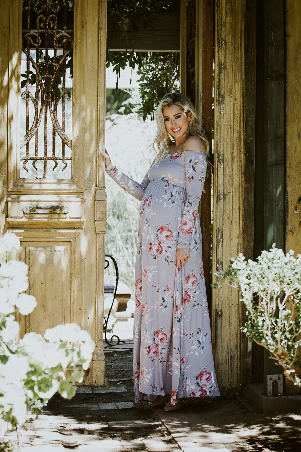 COMMERCIAL photos: FALL Maternity Maxi Dresses PinkBlush