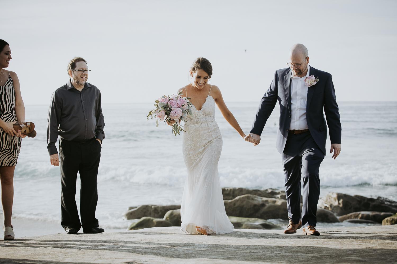 La Jolla Beach Elopement Wedding