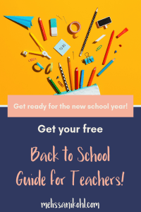 Back to School Guide for Teachers